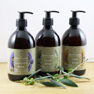 Cold saponified liquid soaps for body and hands